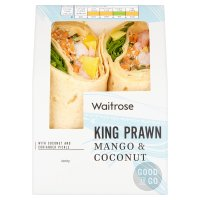 Waitrose MSC king prawn, mango and coconut wrap