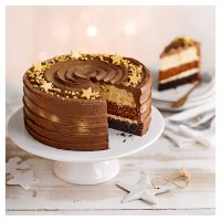 Salted Caramel Christmas Ombre Cake