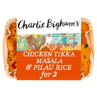 Charlie Bigham's Chicken Tikka Masala & Pilau Rice.