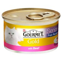 GOURMET Gold Senior Cat Pate Beef Wet Food Can