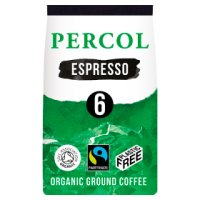 Percol Fairtrade intense Italiano dark ground coffee