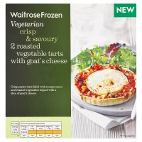 Waitrose Frozen 2 Roasted Vegetable Tarts with Cheese