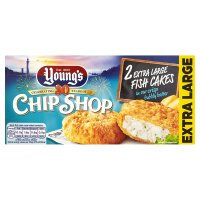 Young's chip shop 2 extra large fish cakes