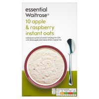 essential Waitrose apple & raspberry instant oats