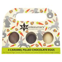 Montezuma's 3 Caramel-filled Eggs