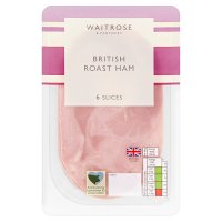 Waitrose British ham, 6 slices