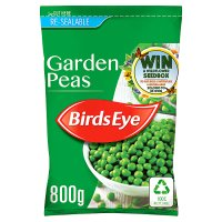 Birds Eye garden peas re-sealable frozen