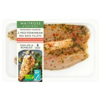 Waitrose 2 Sea Bass Fillets Lime & Chilli