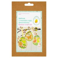 Waitrose Easter 3 Wooden Egg DecorationsKit