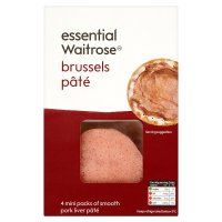 essential Waitrose Brussels pâté, 4 snack packs