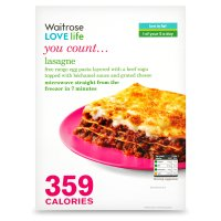 Waitrose LOVE Life you count  Lasagne