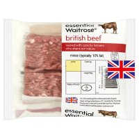 essential Waitrose British mince beef