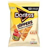 Doritos lightly salted sharing tortilla crisps