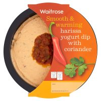 Waitrose harissa yoghurt dip with coriander & red pepper topping