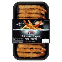 Young's 12 Breaded Torpedo King Prawns