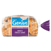 Genius gluten free sliced spicy fruit loaf
