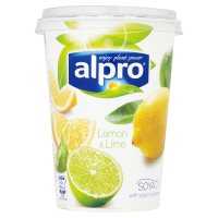 Alpro Soya lemon & lime plant-based alternative to yogurt