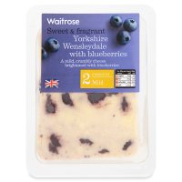 Waitrose Yorkshire mild Wensleydale with blueberries