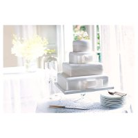 Fiona Cairns 4-tier Ribboned Wedding Cake (Fruit & Sponge)