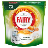 Fairy Clean & Fresh Citrus Grove Dishwasher Tablets 72 pack