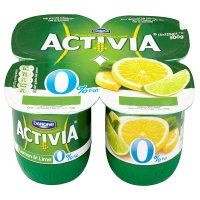 Activia fat free lemon & lime yogurts