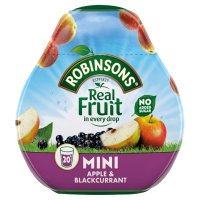 Robinsons squash'd apple & blackcurrant no added sugar