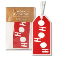 Waitrose Christmas HoHoHo Gift Tags