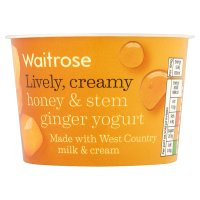 Waitrose honey & stem ginger yogurt