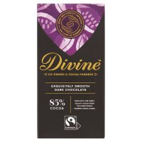Divine Fairtrade 85% dark chocolate