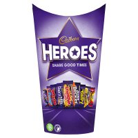 Cadbury Heroes chocolates carton