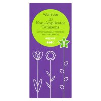 Waitrose Non-Applicator Tampons Super