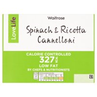Waitrose LoveLife Calorie Controlled spinach & ricotta cannelloni
