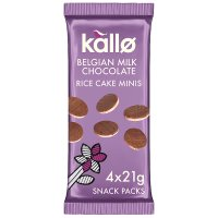 Kallo Belgian Milk Chocolate Rice Cake Minis