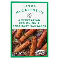 Linda McCartney 6 red onion & rosemary sausages