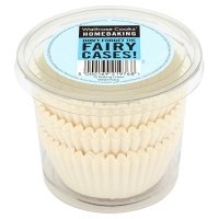 Waitrose Cooks' Homebaking white fairy cake cases