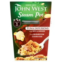 John West Steam Pot tuna infusions soy & ginger with cous cous