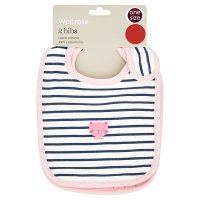 Waitrose 2 pack girls bibs