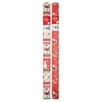 Waitrose Christmas 10m santa friends wrap