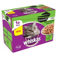 Whiskas 1+ Casserole in Jelly Fish & Meaty Selection