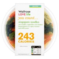 Waitrose LOVE Life you count  Singapore Noodles