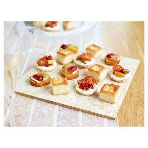 Canap s and vol au vents waitrose for Waitrose canape selection