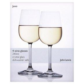 john lewis juno wine glasses 240ml waitrose. Black Bedroom Furniture Sets. Home Design Ideas