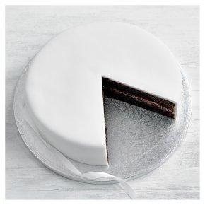 Plain Iced Celebration Cake Chocolate