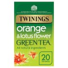 Twinings orange & lotus flower green tea 20 tea bags - 40g Brand Price Match - Checked Tesco.com 16/04/2015