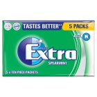 Wrigley's Extra spearmint sugarfree - 5x14g