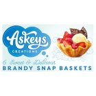 Askey's 6 x Brandy Snap Baskets - 6s Brand Price Match - Checked Tesco.com 02/12/2013