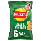 Walkers salt & vinegar crisps - 6x25g Brand Price Match - Checked Tesco.com 04/12/2013