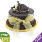 Chocolate Wedding Cake - Gold - Large - each