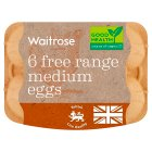 Waitrose British Blacktail medium free range eggs - 6s
