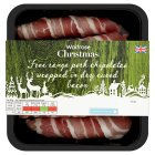 Waitrose Free Range chipolatas wrapped in dry cured bacon - 246g